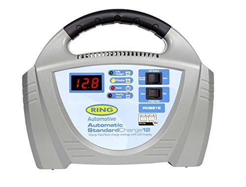 RING RECB212 12V-/12A-Ladegerät für Fahrzeuge mit bis 3,0 l Hubraum und Blei-Säure- oder Gelbatterien - Überladeschutzschaltung inklusive
