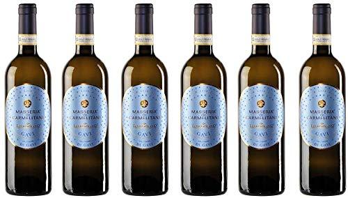 6er Vorteilspaket Gavi di Gavi Masseria dei Carmelitani 2020 | Vite Colte | Weißwein aus Piemont | trocken | 6 x 0,75l