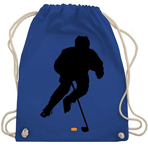 Shirtracer Eishockey - Eishockey Spieler - Unisize - Royalblau - eishockey trikot - WM110 - Turnbeutel und Stoffbeutel aus Baumwolle