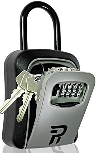 Key Lock Box for Outside Rudy Run Portable Combination Lockbox for House Keys Key Hiders to product image