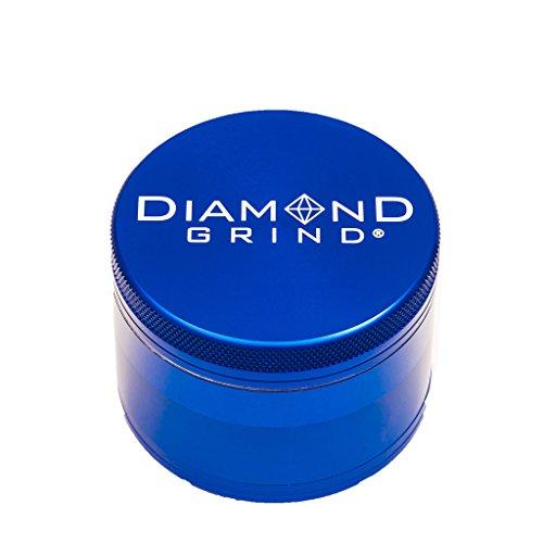 Diamond Grind 4 Piece Aluminum Herb Grinder with screen 63mm (2.50') NAVY BLUE