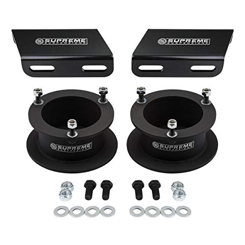 "Supreme Suspensions - 3.5"" Front Lift Kit for 1994-2013 Dodge Ram 2500 3500 4WD and 1994-2001 Dodge Ram 1500 4WD High-Strength Steel Spring Spacers and Sway Bar Drop Brackets Kit"