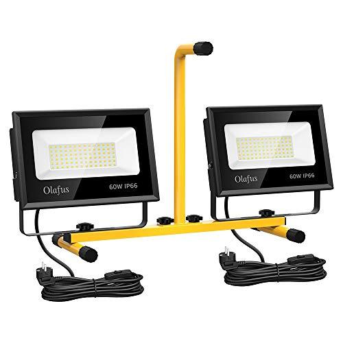 Olafus Focos Trabajo LED 120W 13000LM, 5000K Luz Blanca Fría IP66 Impermeable,...