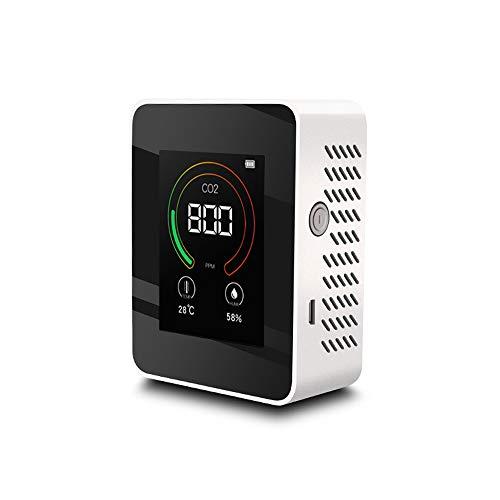 Ironhorse Kohlendioxid-Detektor mit intelligentem LCD-Display, Luftqualitätsmonitor, 400–5000 ppm Reichweite, für den Innenbereich, Kohlendioxid, schädliche Gas-Konzentrationsauswertung, Analyzer