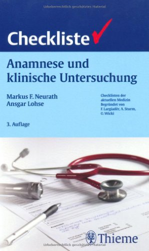 Checkliste Anamnese und klinische Untersuchung