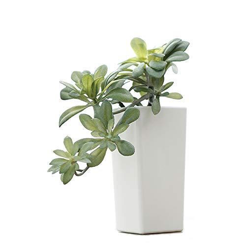 fuxunamz Künstliche Pflanzen,Kunstpflanze mit Plastik Vase, Plastik Pflanze Set, Künstliche Sukkulenten, Landhaus Blumen, Hängende Rebe Topfpflanzen, ideal für Home Büro Küche Balkon Deko, Grün