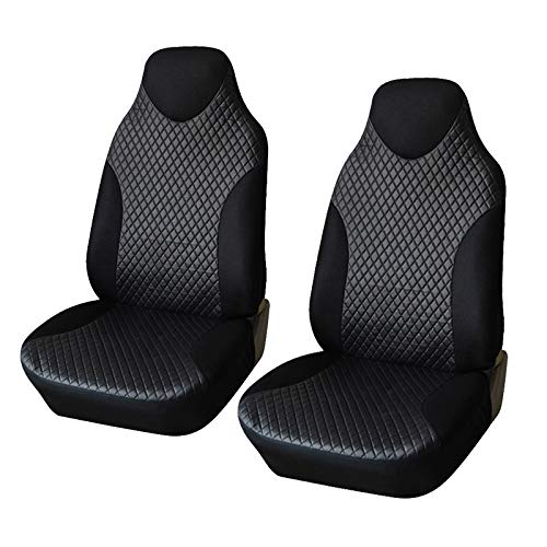 LQW HOME Sitzbezügesets 2ST Vordersitzbezüge schwarz Sportsitzbezüge PVC Stoff Auto-Sitzabdeckung Innenausstattung