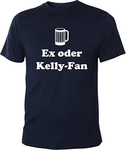 Mister Merchandise Witziges Herren Männer T-Shirt Ex oder Kelly-Fan Kelly Fan Family Saufen Party, Größe: XL, Farbe: Navy