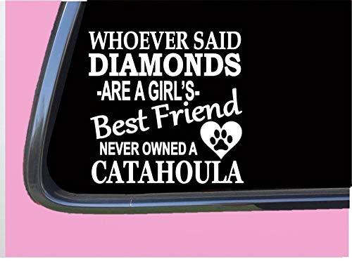Catahoula Diamant-Aufkleber, Rettungshund, Eichhörnchen, Jagd, Schwein, Weste, abnehmbar, Vinyl, 15,2 cm