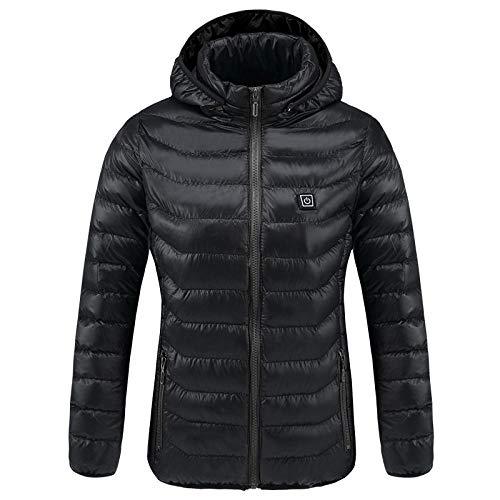 XFX1990 winterjas voor dames en heren, verwarming met verwarming, warme jas met capuchon, elektrische verwarming, pak met USB-aansluiting, waterdicht, vochtbestendig
