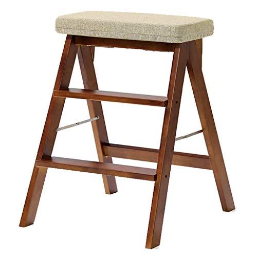 KANJJ-YU escalera portátil recta – Taburete plegable para el hogar adulto simple creativo silla taburete de cocina de madera maciza taburete taburete de paso taburete herramientas
