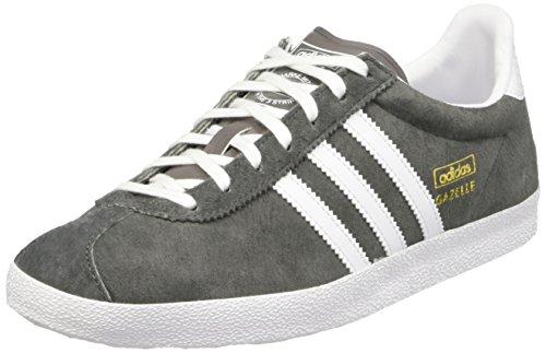 adidas Gazelle OG W, Zapatillas de Deporte para Mujer, Gris/Blanco/Dorado (Ceniza/Ftwbla/Dormet), 44 EU