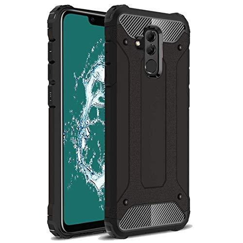 TenYll Huawei Mate 20 Lite Funda, protección contra Golpes de TPU+PC Resistente a arañazos(Doble Capa),para Huawei Mate 20 Lite Funda -Negro