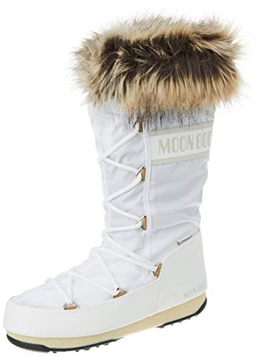 Moon-boot Monaco WP 2, Snow Boot Donna, White, 40 EU