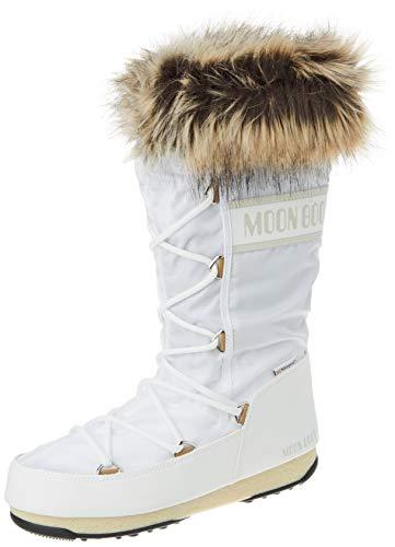 Moon-boot Monaco WP 2, Snow Boot Donna, White, 36 EU