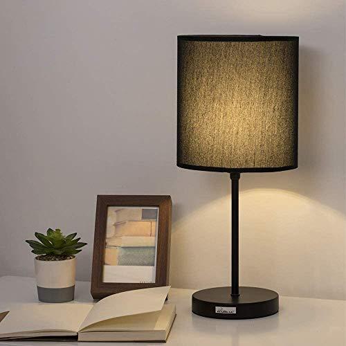 Nachttischlampe - Minimalistische moderne Nachttischlampe mit Stoffschirm und Pull Chain Switch Stick Lampe für Schlafzimmer, Wohnzimmer, Büro, Wohnheim