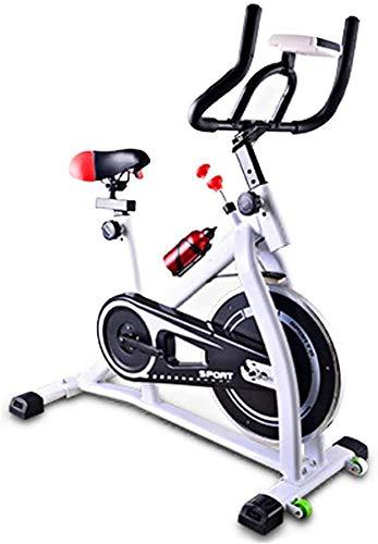 Wghz [Promozione 2021] Biciclette da Allenamento per Bicicletta stazionaria con Trasmissione a Cinghia per Bici da Interno con Monitor LCD per Allenamento Cardio a casa, volano Magnetico da 7 kg