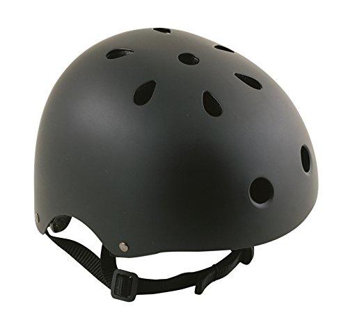 Oxford Bomber - Casco para Bicicleta BMX, Color Negro, Talla L (L)