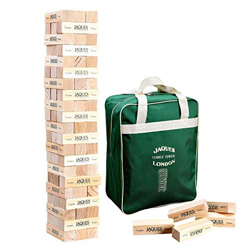 Ultimate XL! Tumble Tower - Superior 5ft Size for adults - Build to over 5 FEET tall during play!-Jaques Of London