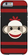 Samsung Galaxy S5 Case,Cute Smiling Sock Monkey Face On Red Black Phone Case for Samsung Galaxy S5