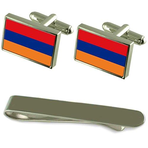 Select Gifts Bandiera dell'Armenia argento gemelli Tie Clip Box Set regalo