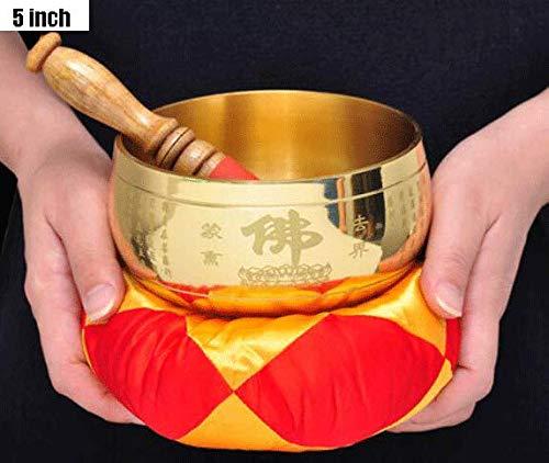 Tibetaanse klankschaal set, meditatie bevordert vrede chakra genezing boeddhistische kom klok handgemaakt Zen spiritueel cadeau.