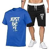 DREAMING-Deportes verano fitness hombres cuello redondo de manga corta...