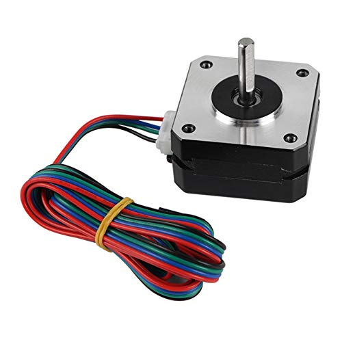 GOUJI Liupin Store Fit For 3D Printer Parts Titan Extruder NEMA 17 Stepper Motor 42x42x2m 17HS4023 For Ultimaker Prusa I3 Kossel Corexy Easy to install (Color : Silver and Black)