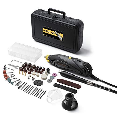 Outil Rotatif Electrique, DETLEV PRO Outil Rotatif Multifonction à 7 Vitesse Variable avec 103 Accessoires pour...