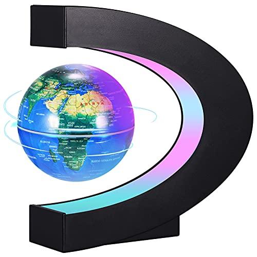 PZJFH Globe Terrestre Lumineux Flottant,Globe...