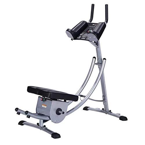 Máquina de entrenamiento en casa Banco de ejercicio abdominal, Máquina de ejercicios abdominales, abdominales plegables, equipo de ejercicios de cuerpo completo con patas, glúteos, pantalla LCD Entren