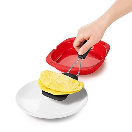 Estuche Vapor | Tortilla Microondas | Vaporera Silicona | Sartén Sin BPA | Cocina Rápida y Saludable