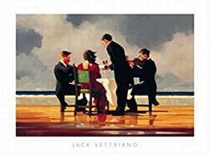 Elegy For A Dead Admiral, Art Print Poster by Jack Vettriano, Overall Size: 31.5x23.5, Image Size: 26.5x18