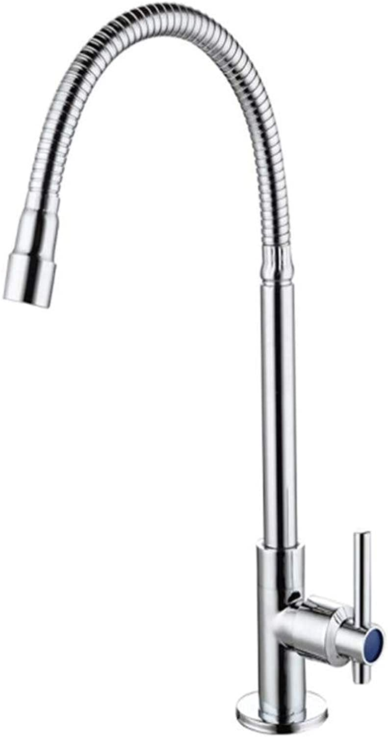 Water Tapkitchen Taps Faucet Modern Kitchen Sink Taps Stainless Steelfacebasin Faucet Copper Cold Hot Water Sink Nozzle Sink Faucet
