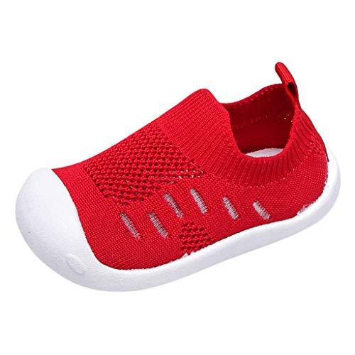 HINK-Ropa Niños Zapatos para Niñas Niños, Bebé Zapatos Bebé Niño Niños Niñas Niños Niñas Caramelos Color Malla Deporte Correr Casual, Bebé Agua Zapatos Grandes Ventas, Mujer, rojo, 9-12 meses
