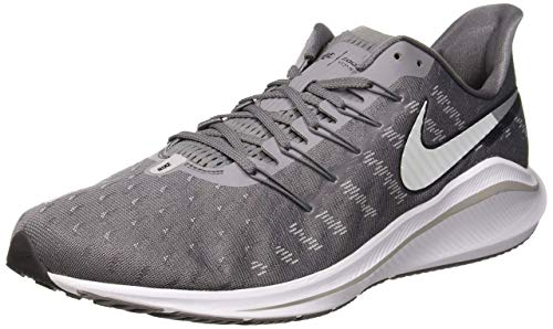 Nike Men's Air Zoom Vomero 14 Track & Field Shoes, Multicolour (Gunsmoke/White/Oil Grey/Atmosphere Grey 003), 6.5 UK