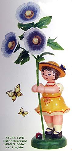 Hubrig Volkskunst Blumenkind Mädchen mit Malve - 24 cm