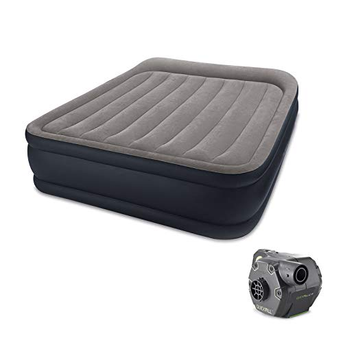 Fantastic Prices! Deluxe Raised Air Bed Mattress w/Built in Pump, Queen & Cordless Pump with Ebook