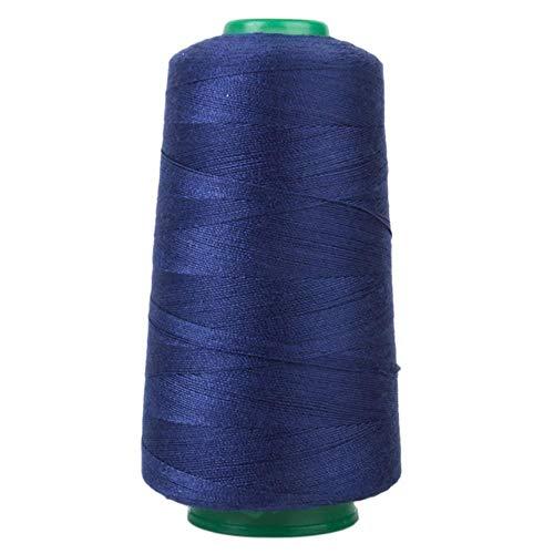 Yener Jeans Nähgarn 3000 Yards für die Polsterung, Outdoor-Markt, Vorhänge, Perlen, Gepäck, Geldbörsen, Taschen, Mavy Blue