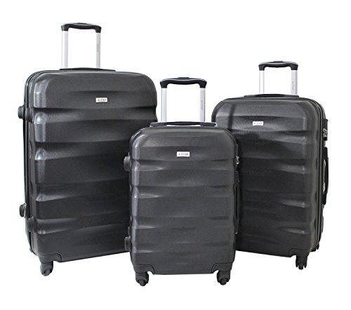 Set de 3 Valises Alistair Fly - ABS renforcé - 4 Roues - 55cm - 65cm - 75cm - Garantie 2 Ans - Marque Alistair (Noir)
