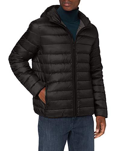Geox Mens M Dennie Quilted Jacket, Black/Iron, 48