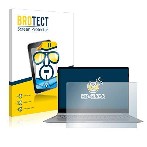 BROTECT Schutzfolie kompatibel mit TrekStor Primebook P15 klare Bildschirmschutz-Folie