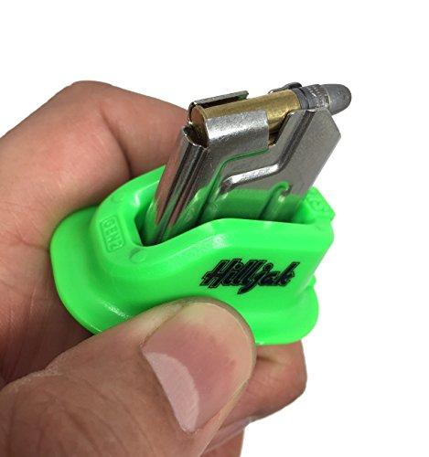Ruger Mark I, II, III, IV, 22/45, S&W Victory, Browning Buck Mark, Beretta U22 Neos 22LR magazine loader, Speed Loader Quickie Loader - Neon Green