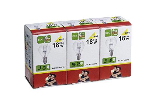 Trio leuchten 964 – 18 balle pack ampoule halogène, 3 pièces, 3 unités