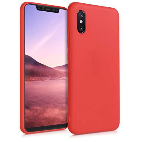 kwmobile Funda Compatible con Xiaomi Mi 8 Pro - Carcasa de TPU Silicona - Protector Trasero en Rojo Mate
