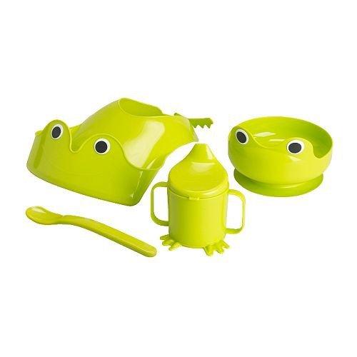 IKEA MATA Babygeschirr in grün; 4-tlg.