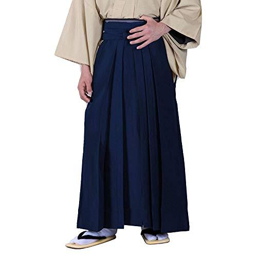 KYOETSU Herren Japanische Hakama Hose Reithose Typ Umanori - Blau - Groß