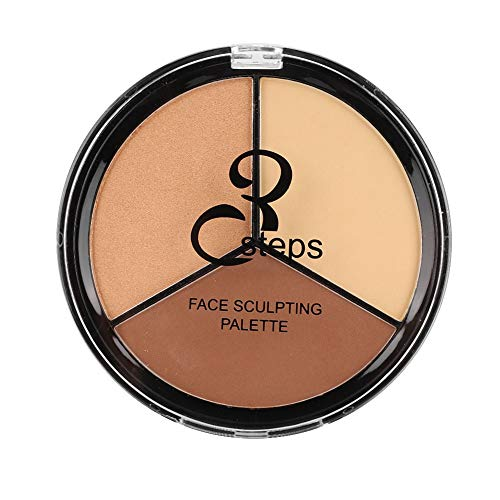 Qkiss 3in1 Langlebige Make-up-Palette Gesicht Highlight Concealer Contour Cosmetic Powder(3#)