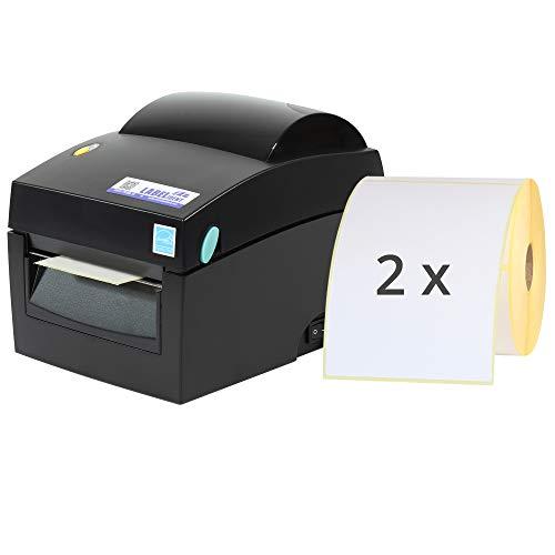 Labelident Starter-Set - Labelident BP4X Drucker mit Abreißkante, 203 dpi - Thermodirekt - 108 mm max. Druckbreite, LAN, seriell, USB