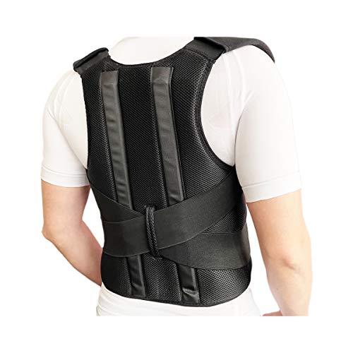 Bonvie – Vendaje para espalda con 2 rieles para hombre y mujer para corregir una mala postura corporal